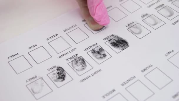 Woman has been fingerprinted in a special document