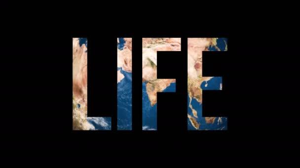 Text Life che trasforma il globo terrestre