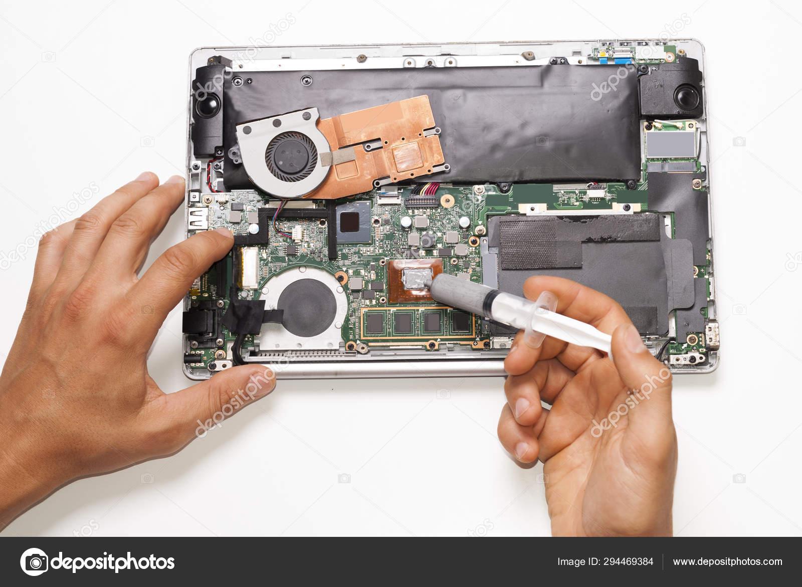 The master serves the laptop — Stock Photo © mkuchina #294469384