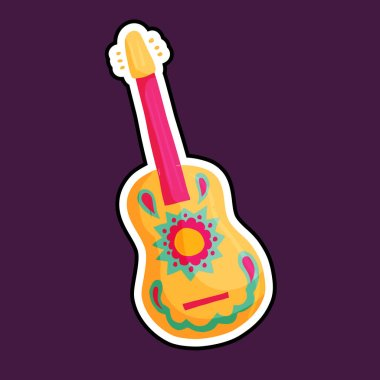 Mexican guitar vector icon