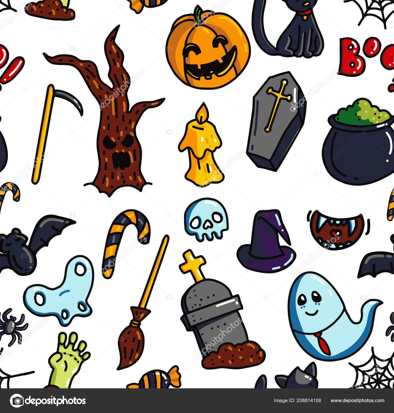 Patrones de figuras para halloween   patrón sin costuras Halloween ...