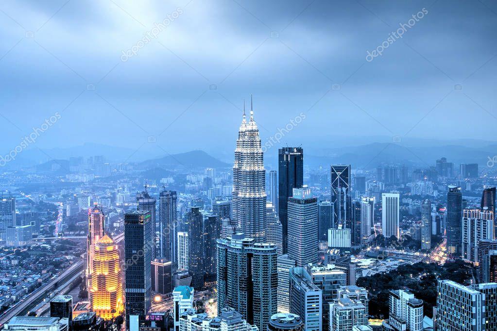 Kuala Lumpur, Malaysia, October 1, 2018: Incredible view of the