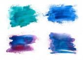 Fotografie abstraktes Aquarell isoliert auf weißem Hintergrund