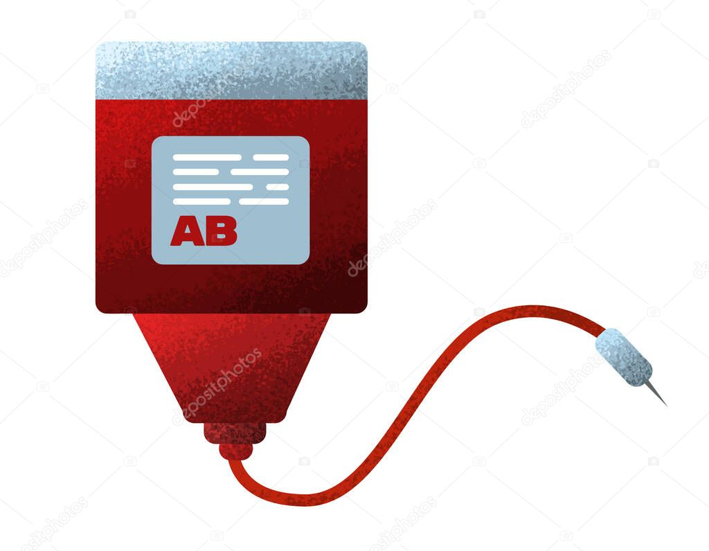 Blood donation icon in flat grunge design icon