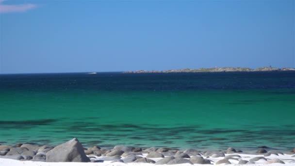 White sand beach of sea coast