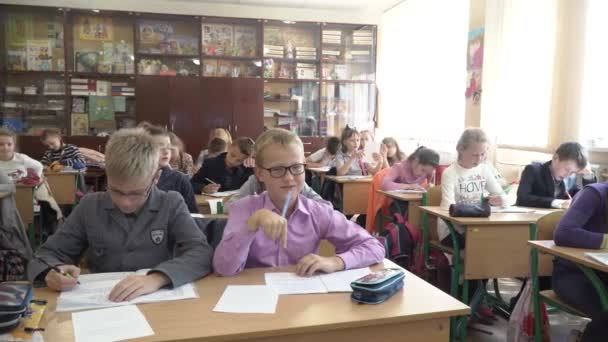 Pupils study at school