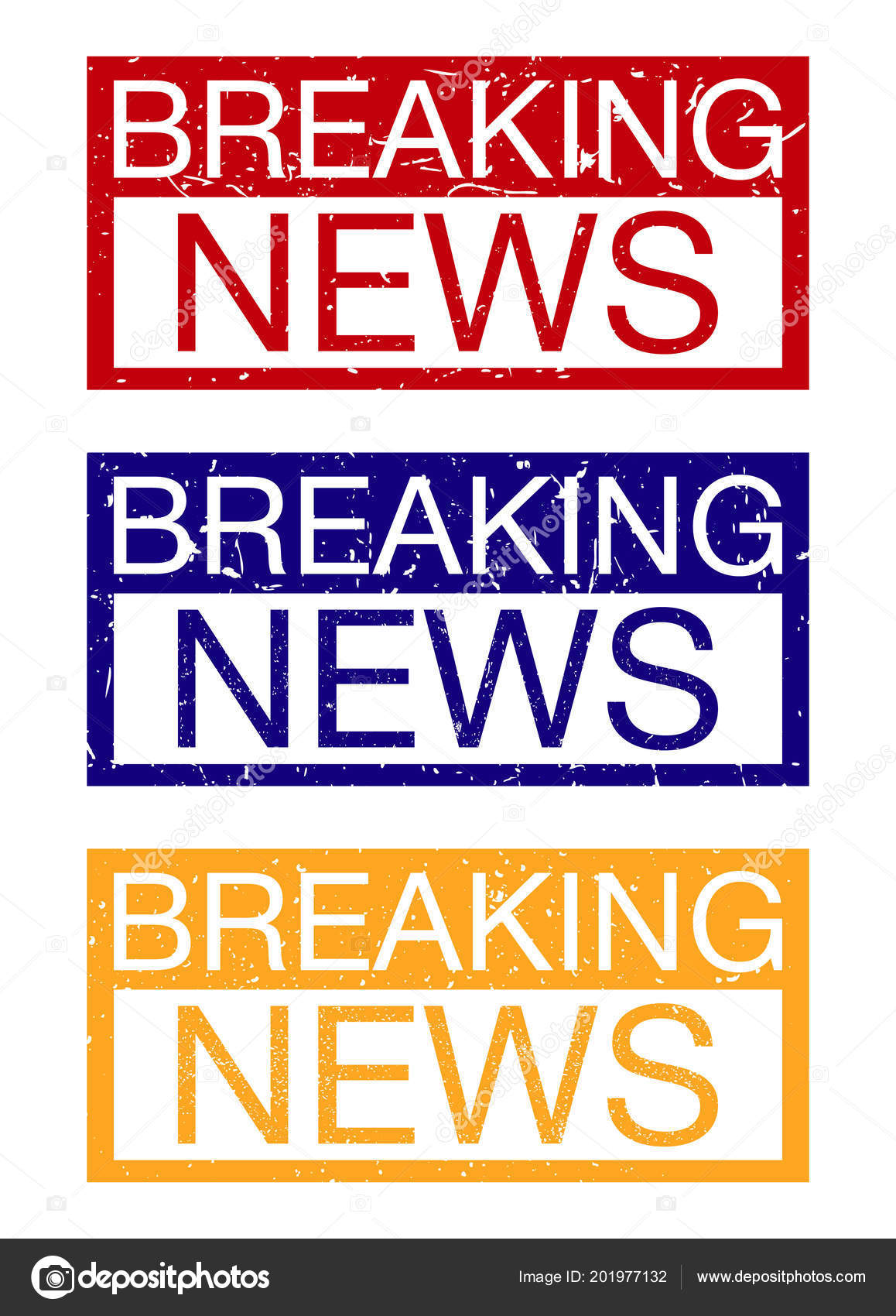 Breaking News Banner Vector Set White Background — Stock Vector