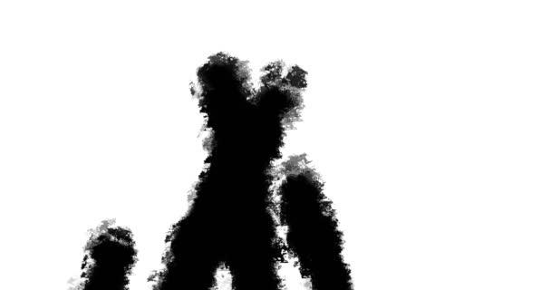 Animált művészet ecset ecsetvonás háttér fel és le