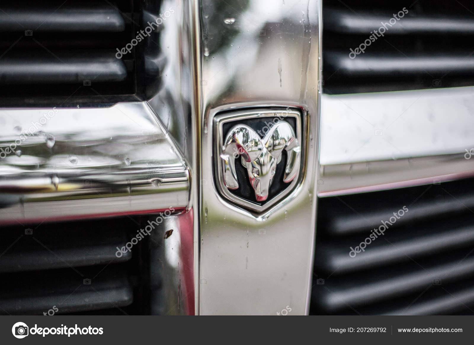 Munich Germany July 2018 Dodge Ram Symbol Car Front Grill Stock
