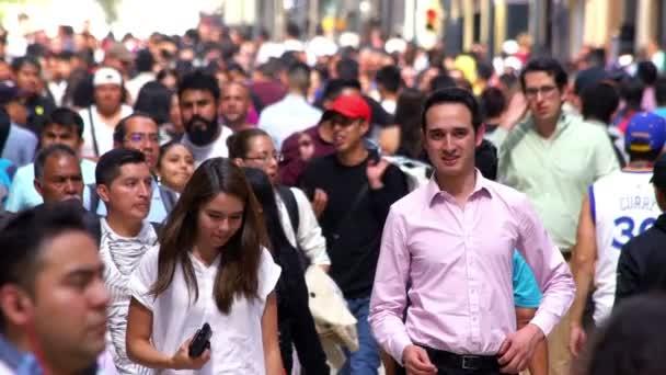 Crowd walking through street. TAKE10-SLOW MOTION