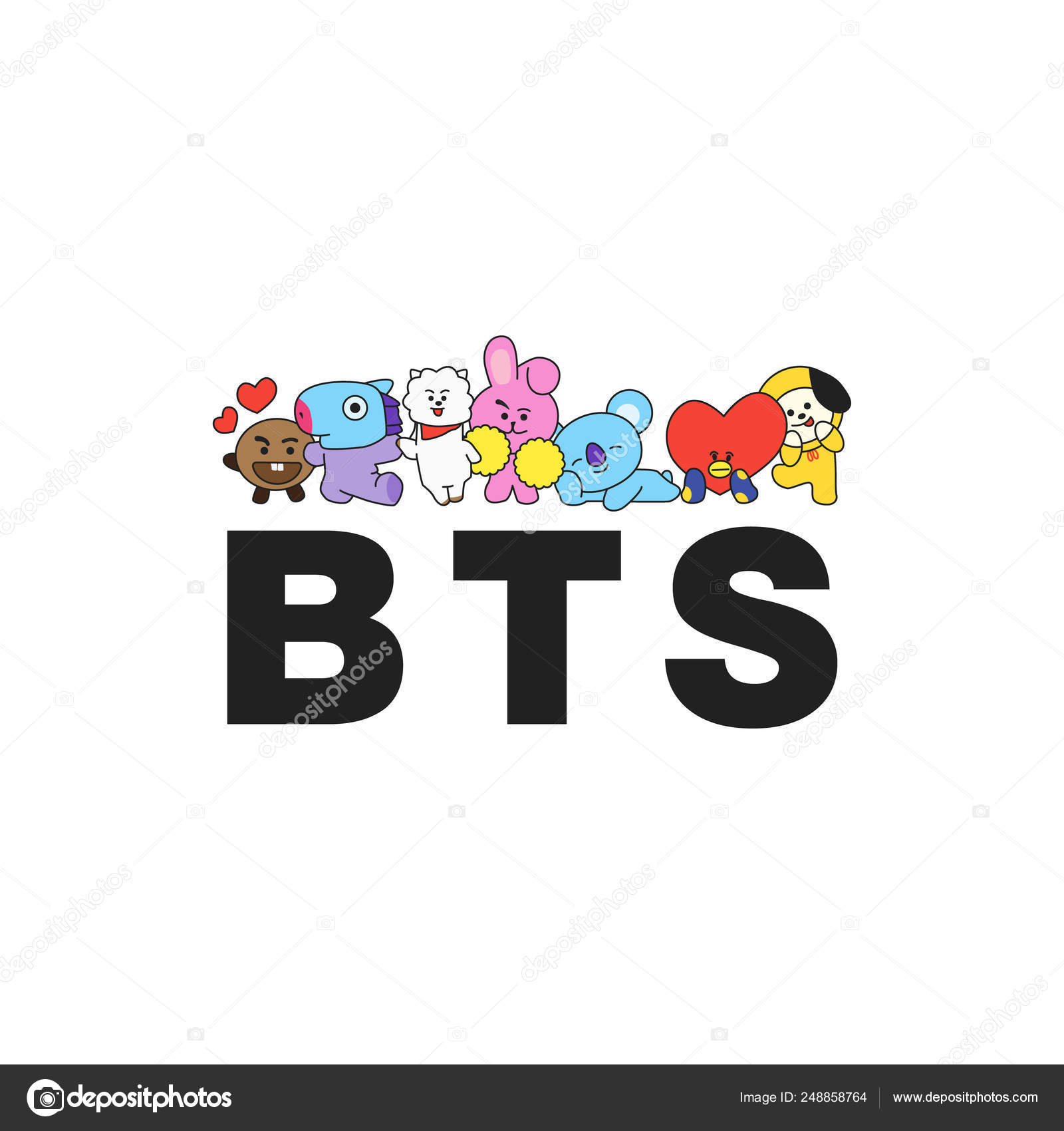 depositphotos 248858764 stock illustration bts south korean boy band