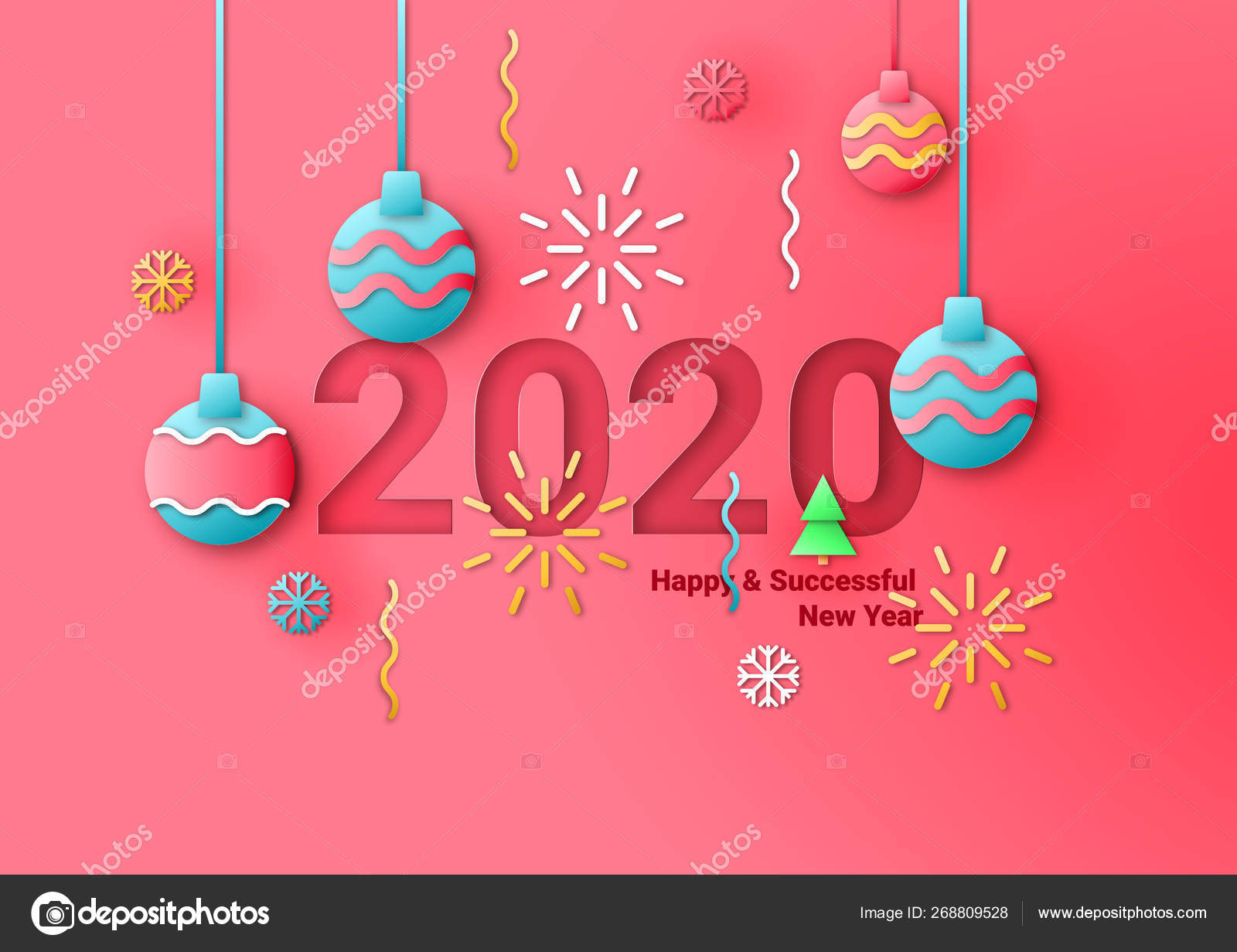 Business Happy New Year 2020 greeting card. Vector illustration concept for  background, greeting card, banner for website, social media banner,  marketing material — Stock Vector © liurii.86@gmail.com #268809528