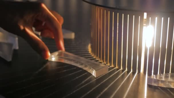 Interactive exposition in science museum - effect of refraction