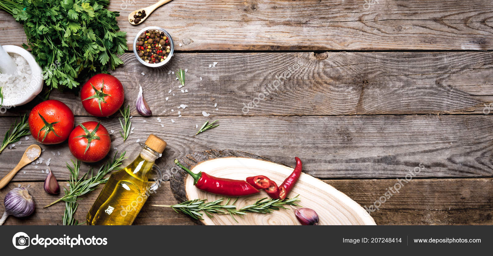 Raw Organic Vegetables With Fresh Ingredients For Healthily Cooking On Vintage Background Top View Banner Vegan Or Diet Food Concept Background Layout With Free Text Space Stock Photo C Photoallel 207248414