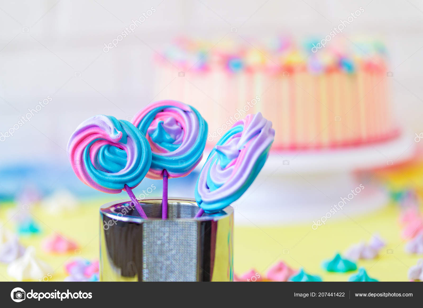 Lollipops Spiral Forms candy on pink background  Funny concept