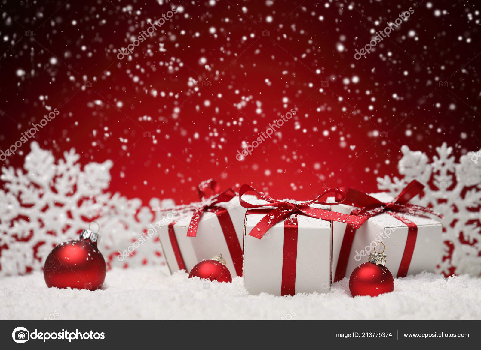 Christmas Seasonal Background High Resolution Celebration