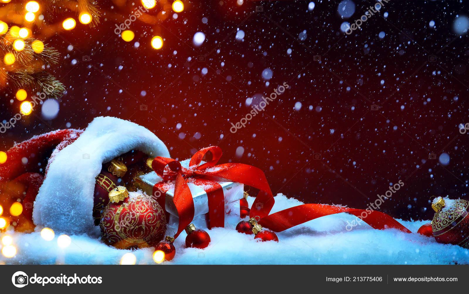 Christmas Seasonal Background High Resolution Celebration
