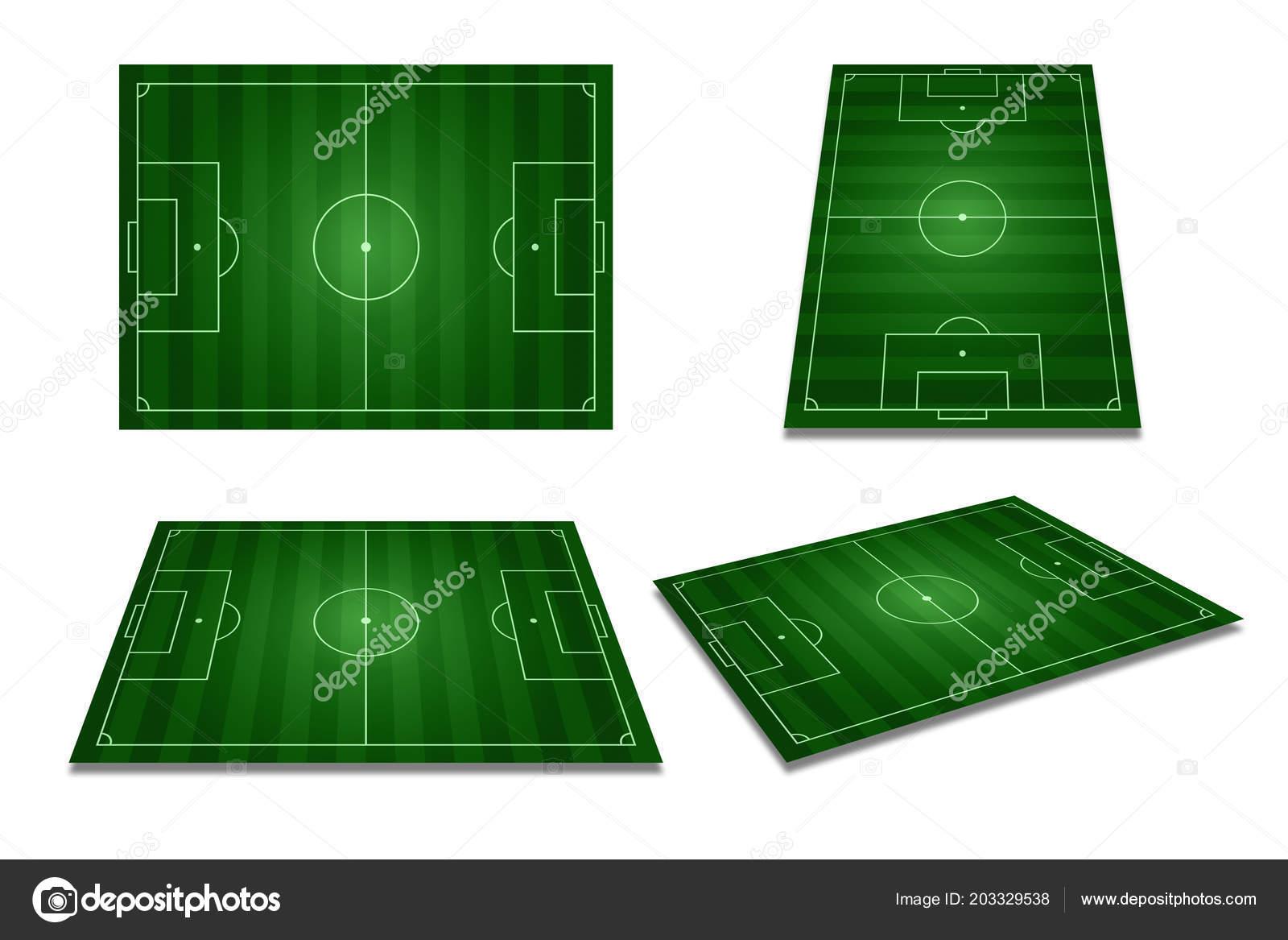 Perspectiva Diferente Verde Campo Futebol Campo Futebol Vista Superior —  Fotografia de Stock d7b55c751313d