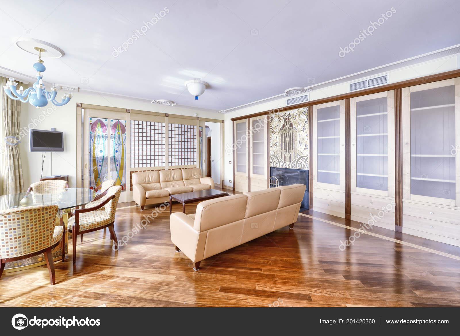 Wohnzimmer Interieur Modernen Haus — Stockfoto ...