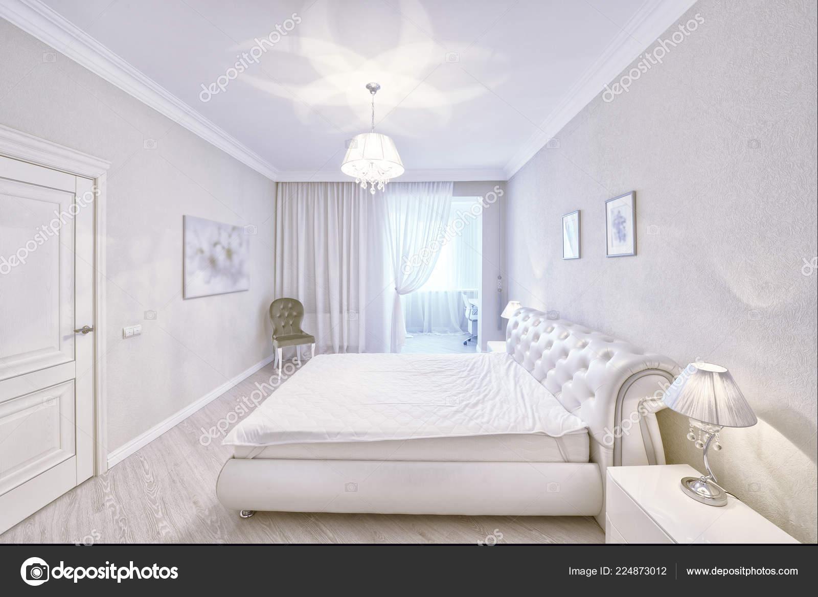 Bedroom Interior White Color Modern House Stock Photo C Ovchinnikovfoto 224873012