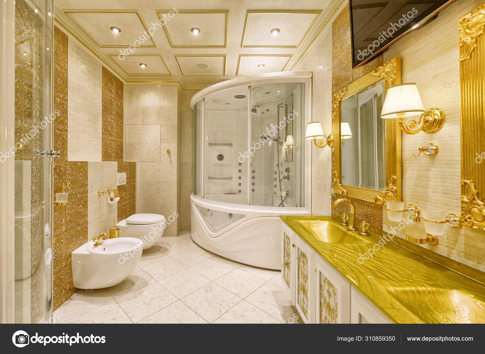 Luxurious Interiors Modern House Interior Design Stylish Bathroom Luxury House Stock Photo Image By C Ovchinnikovfoto 310859350