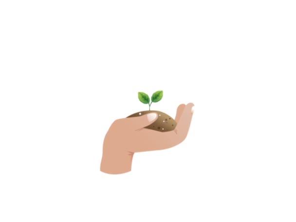 Animáció a növényi növekedést a kezét. Természetvédelmi ökológia