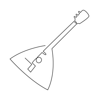 Continuous line drawing of Balalaika icon. Simple element illustration. Balalaika symbol design template. Can be used for web and mobile on white background