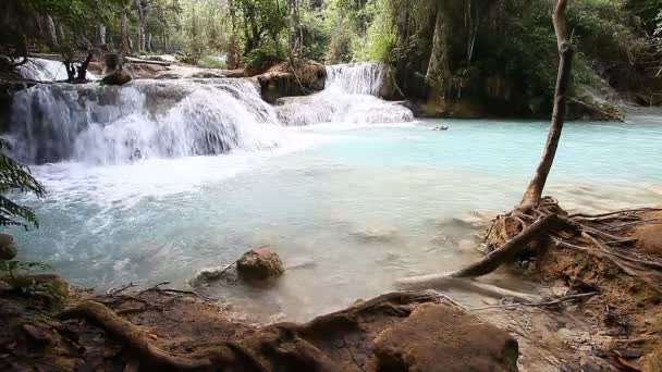 Beautiful landscape with a waterfall .Luang Propang Laos