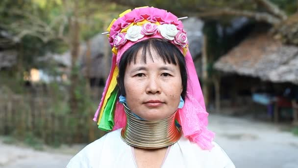 Chiang Mai,Thailand-February 13 ,2017:Adult woman from the hill tribe The long-neck karen called themselves as Kayan living in Eco-Agricultural Hill Tribes Village - Baan Tong Luang