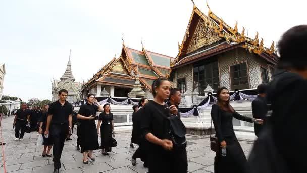 Bangkok, Thajsko-únor 2, 2017:A slavnostní rozloučení do milovaného krále. Král Thajska Bhumibol Adulyadej Rama Ix zemřel v 89-m na rok života v Bangkoku. Národní smutek. Černý rok