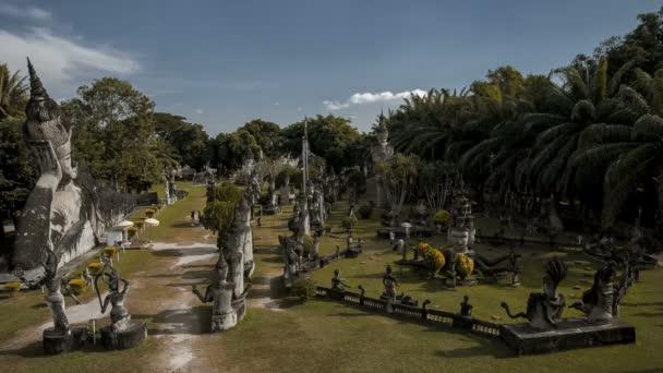 Laosz timelapse Buddha Park