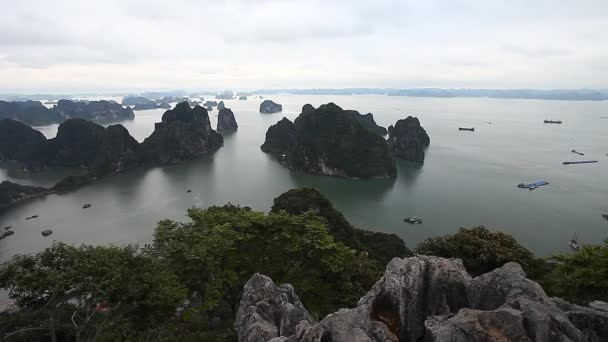 Halong Bay in Vietnam. The amazing beauty of the islands archipelago and UNESCO heritage