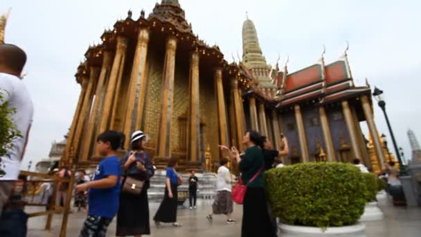 Tourist Thailand.Royal Temple Of The Emerald Buddha many tourists from all over the world visit