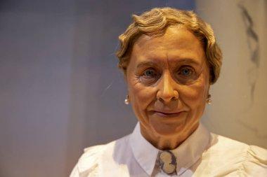 New York, USA - April 30, 2018: Helen Keller in Madame Tussauds of New York