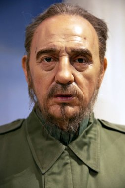 New York, USA - April 30, 2018:Fidel Castro  in Madame Tussauds of New York
