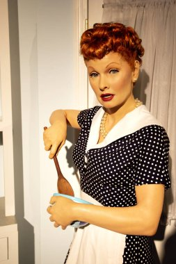 New York, USA - April 30, 2018: Lucille Ball in Madame Tussauds of New York