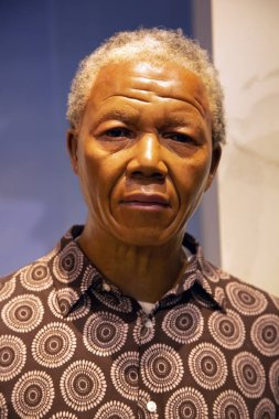 New York, USA - April 30, 2018: Nelson Mandela in Madame Tussauds of New York