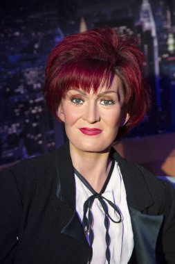 New York, USA - April 30, 2018: Sharon Osbourne in Madame Tussauds of New York
