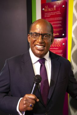 New York, USA - April 30, 2018: Al Roker in Madame Tussauds of New York