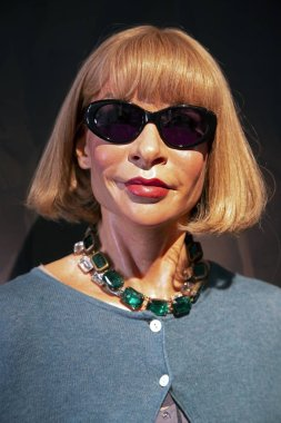 New York, USA - April 30, 2018: Anna Wintour in Madame Tussauds of New York