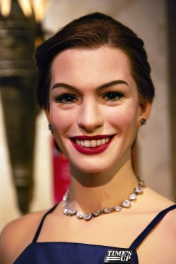 New York, USA - April 30, 2018: Anne Hathaway in Madame Tussauds of New York