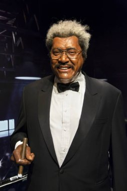 New York, USA - April 30, 2018: Don King in Madame Tussauds of New York