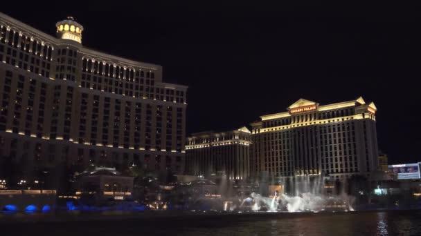 Fountains show in Las Vegas. Bellagio Hotel.