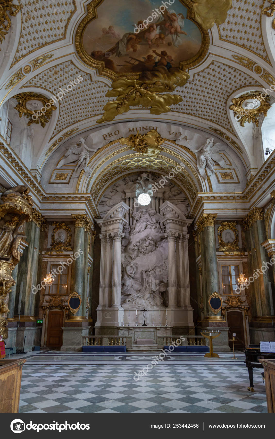 Stockholm royal palace interior sweden stock photo