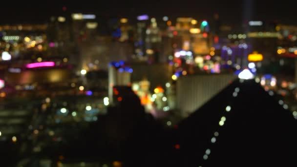 Nejasné pozadí pruhu Las Vegas