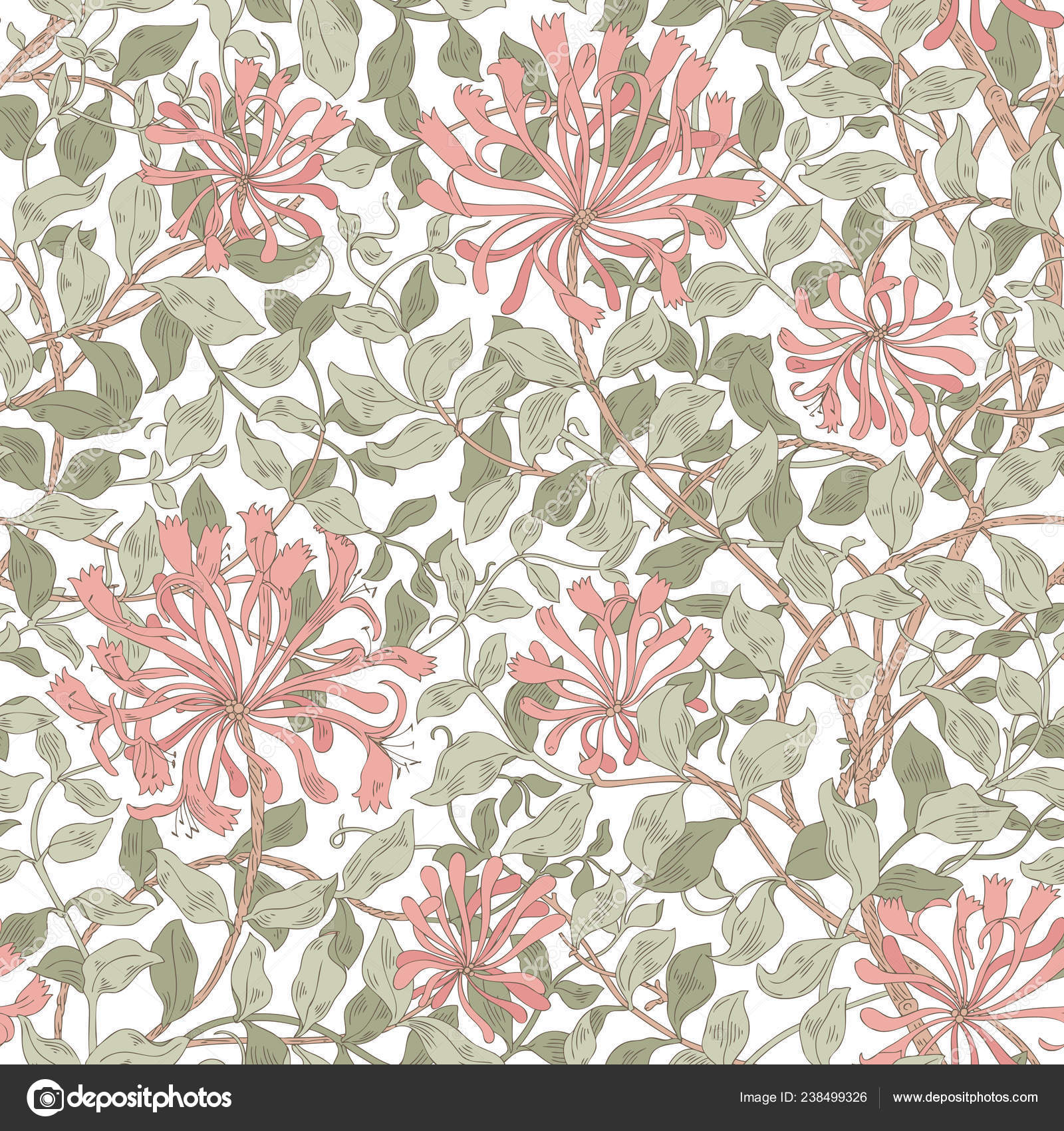 Design Modern Fabric Pattern Floral Pattern Your Design Illustration