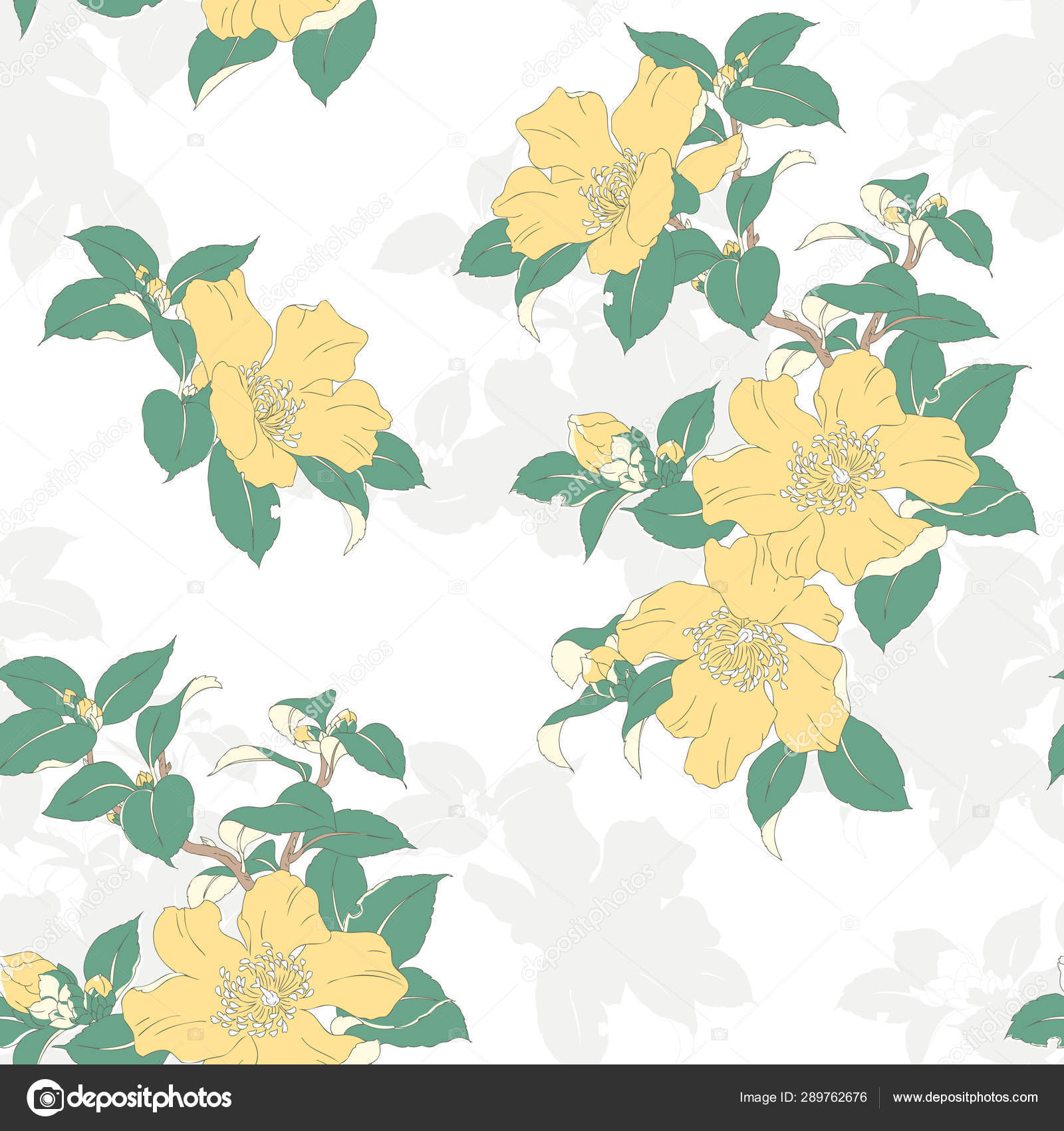 Modern Floral Seamless Pattern For Your Design Print On Paper Or