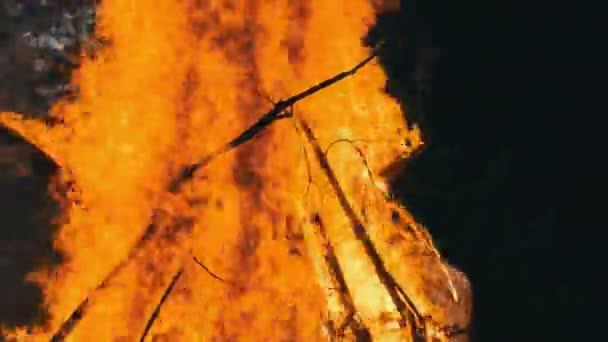 Doutnající, vztekat se stromy, které uhasit hasič s vodou. Požár v lese