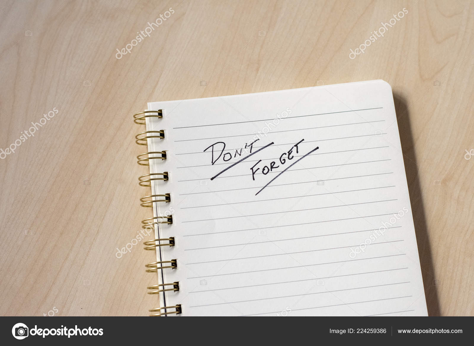 White Notebook Ideas Notes Wooden Desk \u2014 Stock Photo