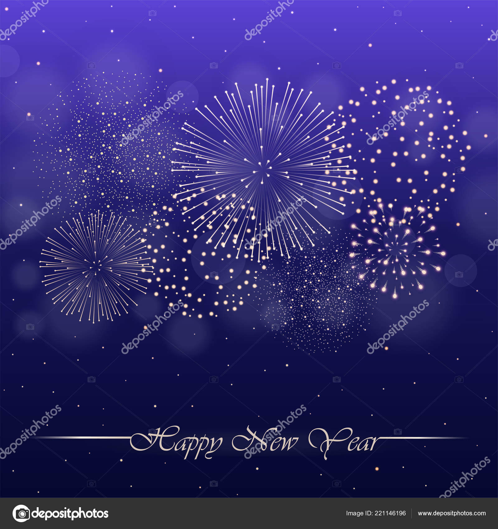 firework show violet night sky background glow sparkles new year stock vector